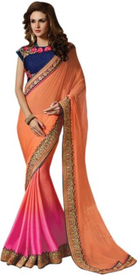 Bhavi Striped Fashion Net Sari