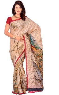 JTInternational Geometric Print Fashion Brasso Sari