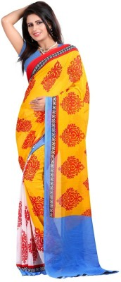 Disneysell Printed Fashion Georgette Sari