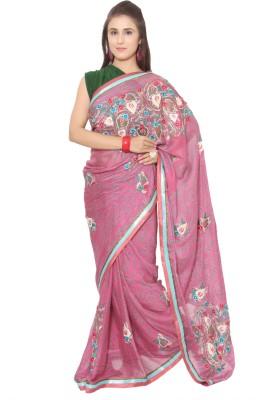 Vibhuti Sarees Self Design Fashion Chanderi Sari