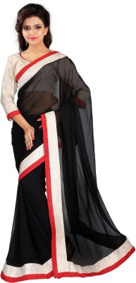 Renishafashion Self Design Fashion Georgette Sari