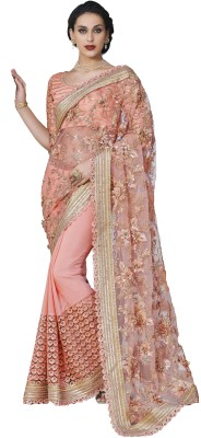 Fashion Forever Embriodered Fashion Net, Georgette Sari
