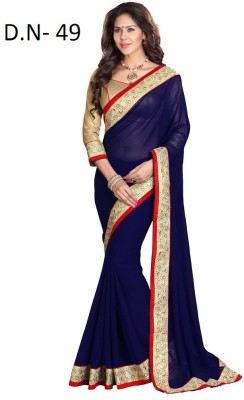 Sumitra Designs Plain Bollywood Chiffon Sari