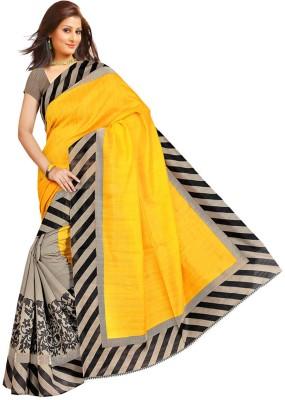 Gd Retails Paisley, Geometric Print, Striped, Printed Bollywood Banarasi Silk Sari