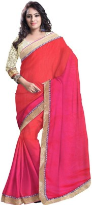 Kittu Solid Fashion Georgette Sari