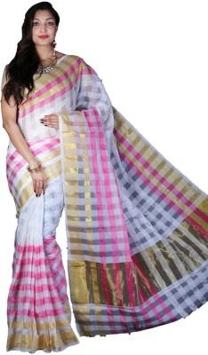 Glamorous Lady Checkered Banarasi Banarasi Silk Sari