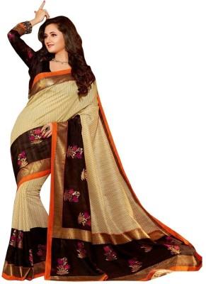 Monu Silk Mills Printed Bhagalpuri Art Silk Sari