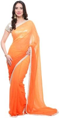 Aarohii Plain Bollywood Georgette Sari