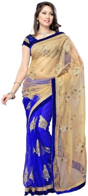 Sciocco Embriodered Fashion Net Sari