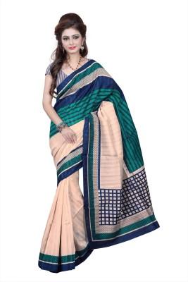 Jay Ambe Self Design Fashion Printed Silk Sari