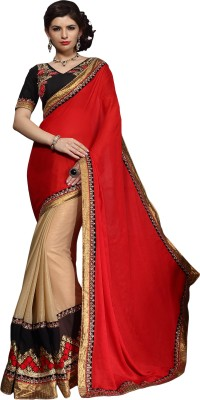 Aasvaa Embriodered Fashion Jacquard Sari