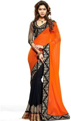 Trendyfy Self Design Bollywood Georgette Sari
