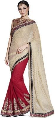 ASHISH Solid Fashion Chiffon Sari