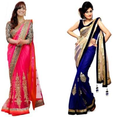 Bikaw Embriodered Bollywood Net Sari