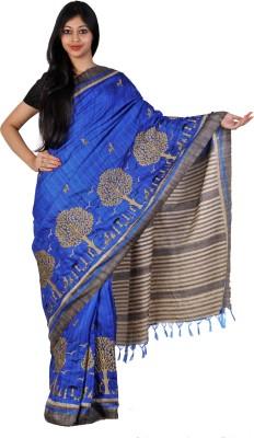 PriyanjaliBoutique Woven Bhagalpuri Handloom Dupion Silk Sari