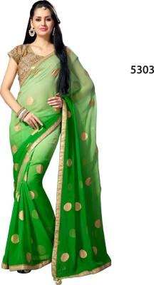 Parvati Fabrics Embriodered Fashion Chiffon Sari