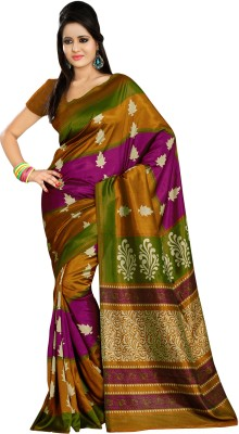 Right Shape Printed Bollywood Printed Silk Sari