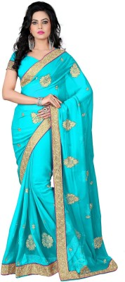 RajLaxmi Embriodered Fashion Georgette Sari
