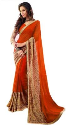 Contemporarycrafts Embriodered Fashion Chiffon Sari