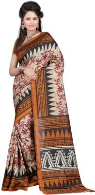 Enjoy Fashion Hub Printed Bhagalpuri Art Silk Sari