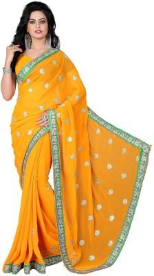 Vishnupriya Fabs Embriodered Bollywood Georgette Sari