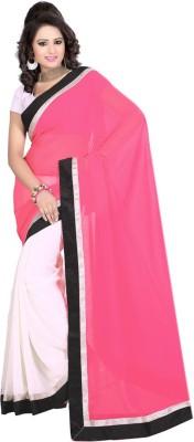 Laxmi Sarees Plain Fashion Georgette Sari
