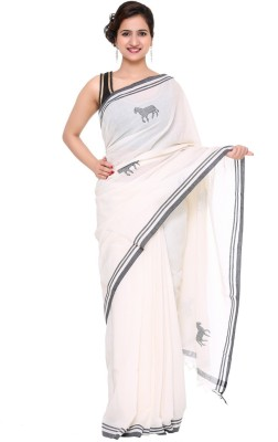 Khadi Natural Self Design Fashion Handloom Khadi Sari