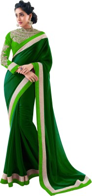 VIJAYA Self Design Bollywood Georgette Sari