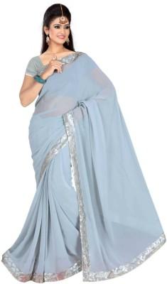 Alliance Fashion Solid Daily Wear Georgette Sari