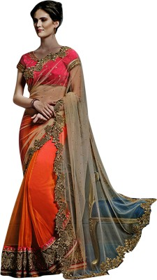 Limozine Creation Embriodered Fashion Georgette Sari