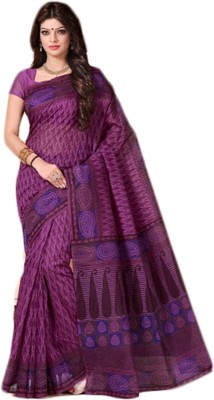 SevenDown Self Design Fashion Cotton Sari