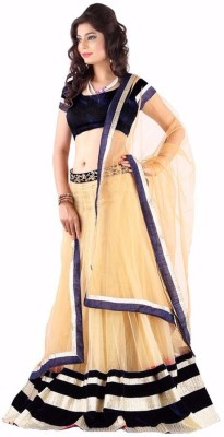 FB Fashion Net Self Design Semi-stitched Lehenga Choli Material