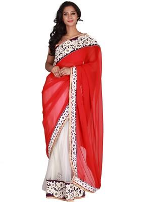 Jugniji Printed Fashion Handloom Chiffon Sari