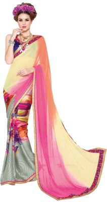 Granth Printed Bollywood Georgette Sari