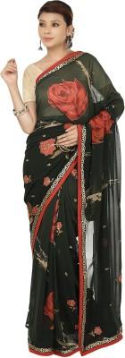 Sri Sai Vastra Floral Print Bollywood Crepe Sari