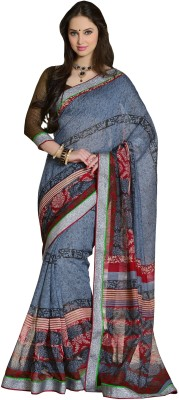 Rangsutra Floral Print Fashion Handloom Cotton Sari