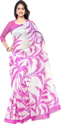 Archishmathi Floral Print Fashion Printed Silk Sari