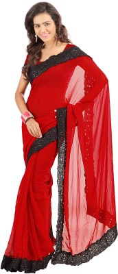 Stylo Designer Self Design Fashion Chiffon Sari
