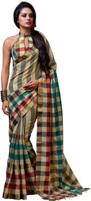 Signature Fashion Checkered Bollywood Cotton Sari