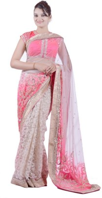Janaknandini Embriodered Fashion Net Sari