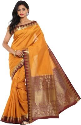 Sudarshan Silks Geometric Print, Self Design Fashion Tussar Silk Sari