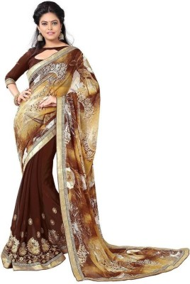 Reveka Fashion Printed Fashion Georgette Sari