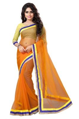 Omkarcreation Solid Bollywood Net Sari