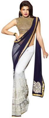 Hanscreation Embriodered Bollywood Handloom Georgette Sari