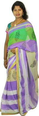 Ram Fashion Floral Print Fashion Chiffon Sari