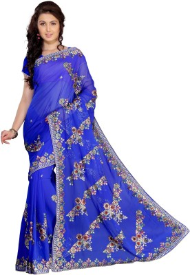 Florence Embriodered Fashion Chiffon Sari