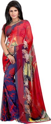 ZofeyFashion Printed, Floral Print Fashion Georgette Sari