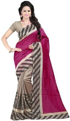 Fabiola Trendz Embriodered Bollywood Handloom Art Silk Sari