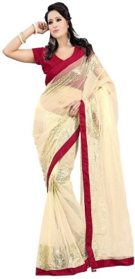 Rudraksh Fashion Embriodered Fashion Net Sari