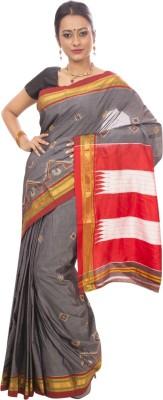 Dhammanagi Embriodered, Woven Ilkal Handloom Pure Silk Sari